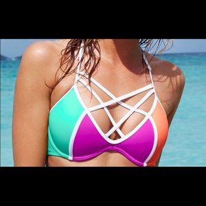 Pink Size XS bathing suit top.